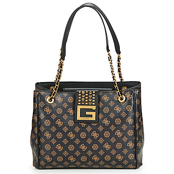 Torby Damskie Torby shopper Guess BLING GIRLFRIEND TOTE Brązowy