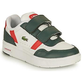 Buty Dziecko Trampki niskie Lacoste T-CLIP 0121 2 SUI Biały / Zielony / Czerwony