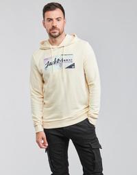 tekstylia Męskie Bluzy Jack & Jones JORLOGON Beżowy
