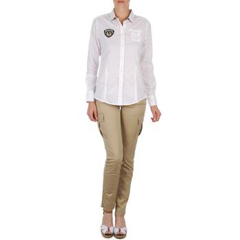 tekstylia Damskie Spodnie z pięcioma kieszeniami Napapijri MYOSA Beżowy