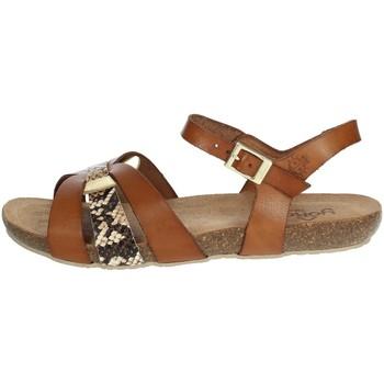 Buty Damskie Sandały Yokono IBIZA-153 'Brązowy skóra