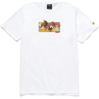 tekstylia Męskie T-shirty z krótkim rękawem Huf T-shirt dhalsim ss Biały