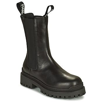 Buty Damskie Buty za kostkę Karl Lagerfeld BIKER II LONG GORE BOOT Czarny