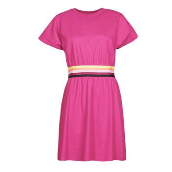 tekstylia Damskie Sukienki krótkie Karl Lagerfeld LOGO TAPE JERSEY DRESS Różowy