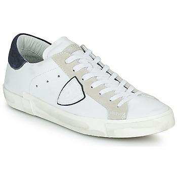 Buty Męskie Trampki niskie Philippe Model PRSX LOW MAN Biały