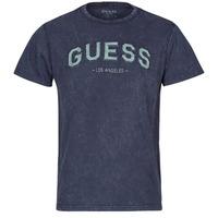 tekstylia Męskie T-shirty z krótkim rękawem Guess GUESS COLLEGE CN SS TEE Marine