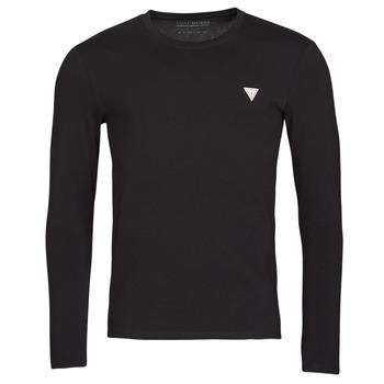 tekstylia Męskie T-shirty z długim rękawem Guess CN LS CORE TEE Czarny