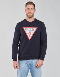 tekstylia Męskie Bluzy Guess AUDLEY CN FLEECE Marine