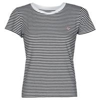 tekstylia Damskie T-shirty z krótkim rękawem Guess ES SS GUESS LOGO BABY TEE Czarny / Biały