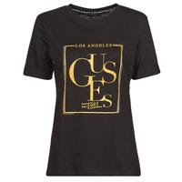 tekstylia Damskie T-shirty z krótkim rękawem Guess SS CN SIMONNE TEE Czarny