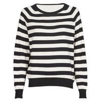 tekstylia Damskie Swetry Guess IRENE RN LS SWTR Czarny / Biały