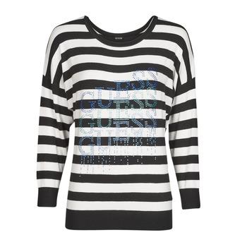 tekstylia Damskie Swetry Guess CLAUDINE BAT SLEEVE SWTR Czarny / Biały