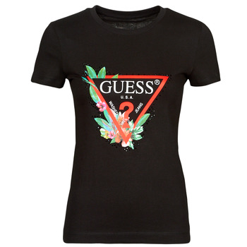 tekstylia Damskie T-shirty z krótkim rękawem Guess SS CN NORA TEE Czarny