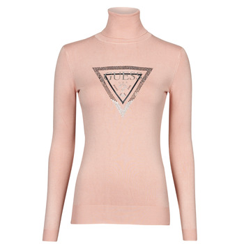 tekstylia Damskie Swetry Guess ADELLE TN LS SWTR Różowy