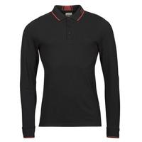 tekstylia Męskie Koszulki polo z długim rękawem Guess STU LS POLO Czarny