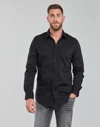 tekstylia Męskie Koszule z długim rękawem Guess LS SUNSET SHIRT Czarny