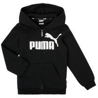 tekstylia Chłopiec Bluzy Puma ESSENTIAL BIG LOGO FZ HOODIE Czarny