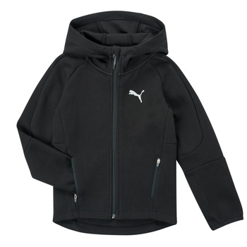 tekstylia Chłopiec Bluzy Puma EVOSTRIPE FZ HOODED JACKET Czarny