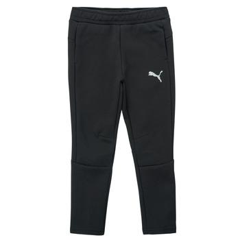 tekstylia Chłopiec Spodnie dresowe Puma EVOSTRIPE PANT Czarny