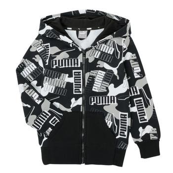 tekstylia Chłopiec Bluzy Puma ALPHA AOP FZ Czarny