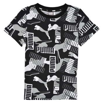 tekstylia Chłopiec T-shirty z krótkim rękawem Puma ALPHA AOP TEE Czarny