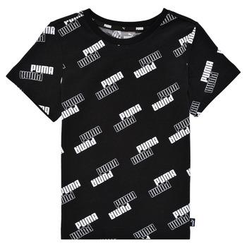 tekstylia Chłopiec T-shirty z krótkim rękawem Puma PUMA POWER AOP TEE Czarny