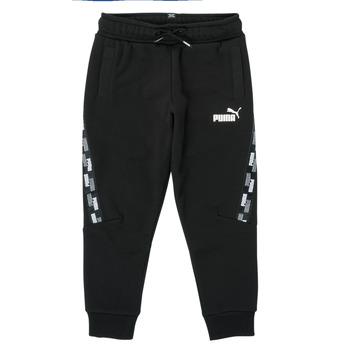 tekstylia Chłopiec Spodnie dresowe Puma PUMA POWER TAPE PANT Czarny