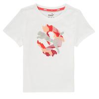 tekstylia Dziewczynka T-shirty z krótkim rękawem Puma ALPHA TEE Biały