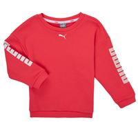 tekstylia Dziewczynka Bluzy Puma ALPHA CREW SWEAT Różowy