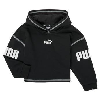 tekstylia Dziewczynka Bluzy Puma PUMA POWER HOODIE Czarny