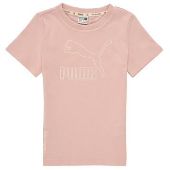 tekstylia Dziewczynka T-shirty z krótkim rękawem Puma T4C TEE Różowy
