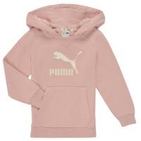 tekstylia Dziewczynka Bluzy Puma T4C HOODIE Różowy