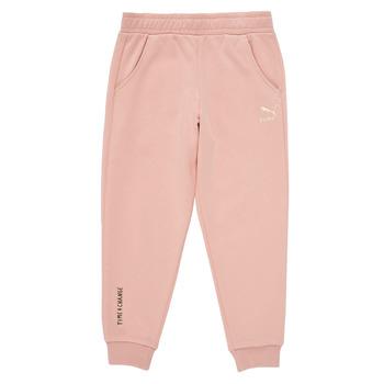 tekstylia Dziewczynka Spodnie dresowe Puma T4C SWEATPANT Różowy
