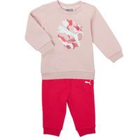 tekstylia Dziewczynka Komplet Puma Minicats ALPHA Crew Jogger FL Różowy