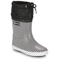 Buty Dziewczynka Śniegowce Aigle GIBOULEE PRINT Czarny / Biały