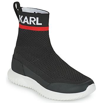 Buty Chłopiec Trampki wysokie Karl Lagerfeld PELINDRA Czarny