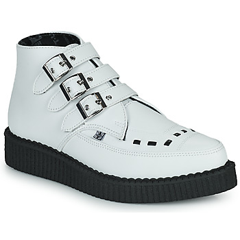 Buty Buty za kostkę TUK POINTED CREEPER 3 BUCKLE BOOT Biały