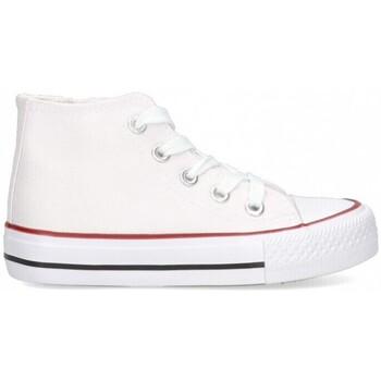 Buty Dziewczynka Trampki wysokie Luna Collection 56834 biały