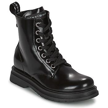 Buty Dziewczynka Buty za kostkę Tommy Hilfiger T4A5-32009-0776999 Marine