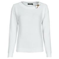 tekstylia Damskie Swetry Lauren Ralph Lauren YAMINAH-LONG SLEEVE-SWEATER Biały