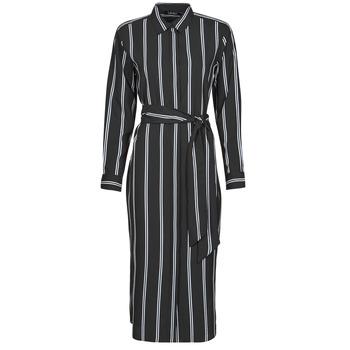 tekstylia Damskie Sukienki długie Lauren Ralph Lauren RYNETTA-LONG SLEEVE-CASUAL DRESS Czarny