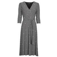 tekstylia Damskie Sukienki długie Lauren Ralph Lauren CARLYNA-3/4 SLEEVE-DAY DRESS Czarny