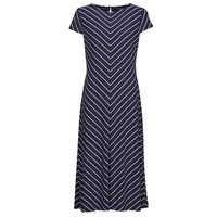 tekstylia Damskie Sukienki długie Lauren Ralph Lauren PIPPA-CAP SLEEVE-DAY DRESS Niebieski