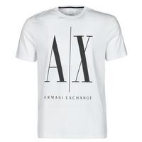 tekstylia Męskie T-shirty z krótkim rękawem Armani Exchange HULO Biały