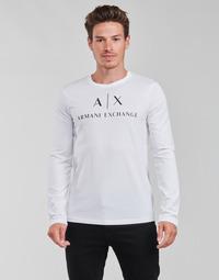 tekstylia Męskie T-shirty z długim rękawem Armani Exchange 8NZTCH Biały
