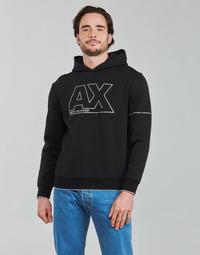 tekstylia Męskie Bluzy Armani Exchange 6KZMFF Czarny