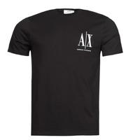 tekstylia Męskie T-shirty z krótkim rękawem Armani Exchange 8NZTPH Czarny