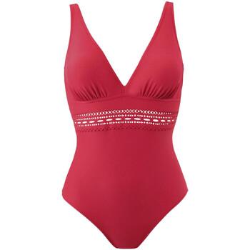 tekstylia Damskie Kostium kąpielowy jednoczęściowy Janine Robin 191055-50 Czerwony