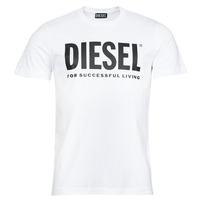 tekstylia Męskie T-shirty z krótkim rękawem Diesel T-DIEGOS-ECOLOGO Biały