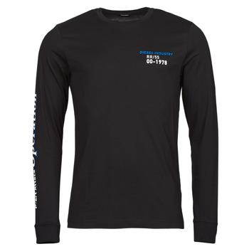tekstylia Męskie T-shirty z długim rękawem Diesel T-DIEGOS-LS-K25 Czarny